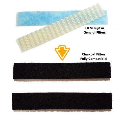 Fujitsu UTR-FA16 or UTR-FC03 filter installation instructions